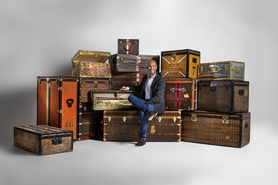 5b56a3ae7a03 LEGENDARY TRUNKS EXHIBITION WITH VINTAGE LOUIS VUITTON SUITCASES