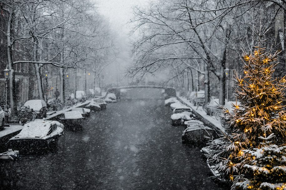 beautiful snow pictures Amsterdam