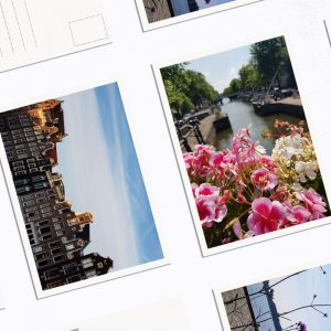 Amsterdam - iconic scenery postcards