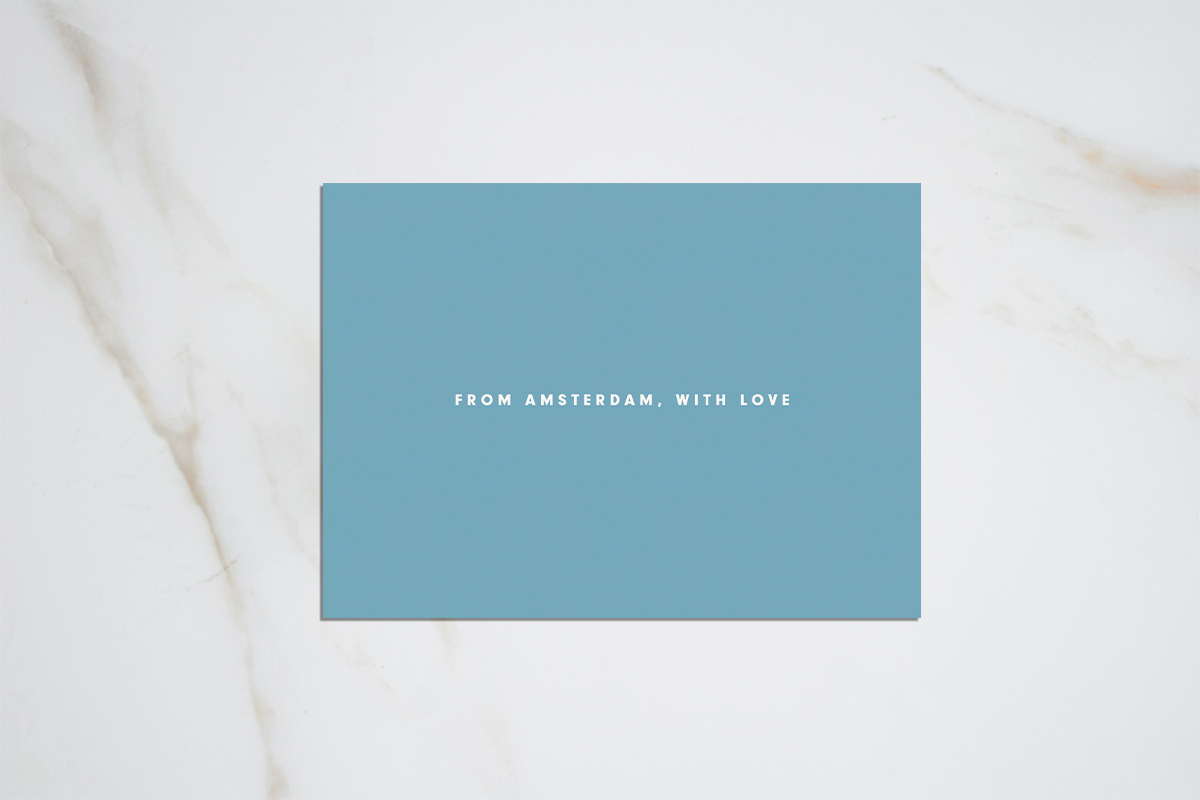 From Amsterdam with love - light blue postcard
