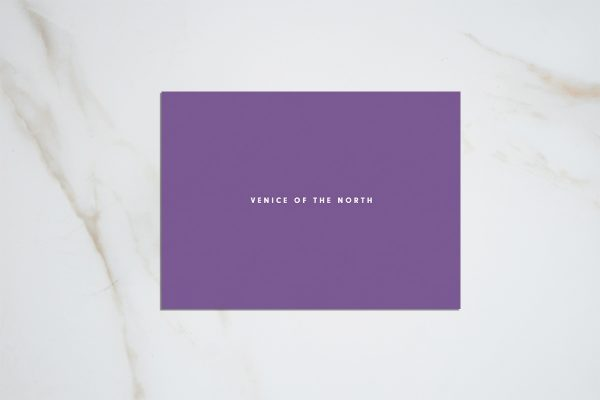 Venice of the North - purple postcard